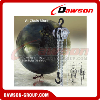 DSV1 0.25 Ton Chain Block, 250kg Mini Chain Hoist for Lifting