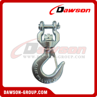 G80 / Grade 80 1Ton Forged Alloy Steel Clevis Type Swivel Hook with Shackle for Webbing