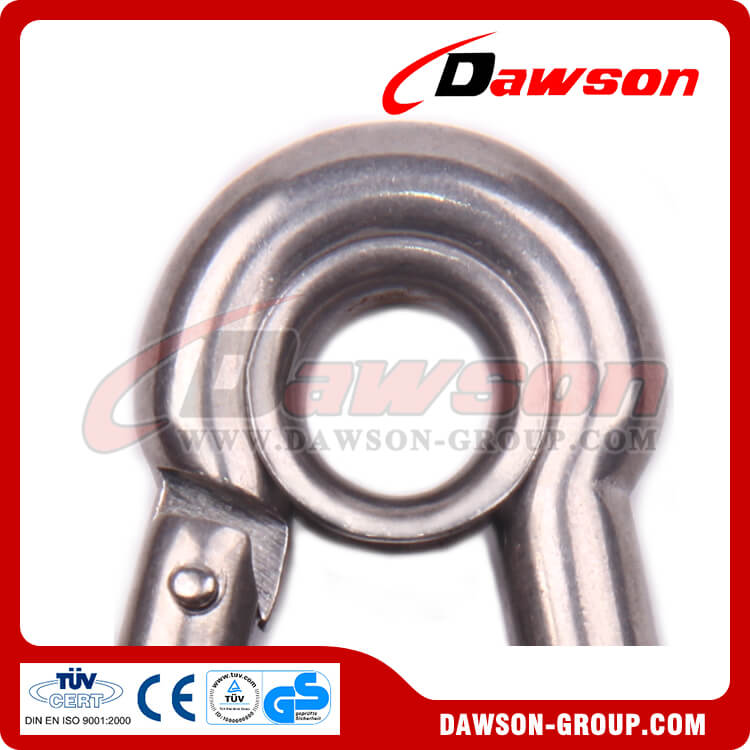 Stainless Steel Snap Hook with Eyelet and Screw