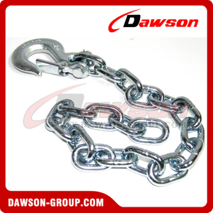 G43 Trailer Safety Chains Assembly with Slip Clevis Hook & Latch