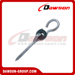 Stainless Steel Galvanized Swing Hook with Bolt and Plastic Washer