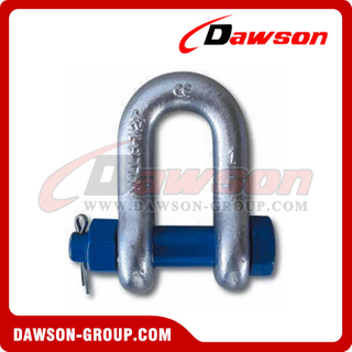 US Type Forged Alloy High Tensile Bolt Type Chain Shackle with Safety Pin and Nut