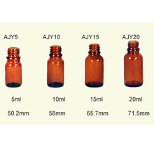 Amber Glass Essential Oil Bottles