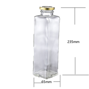 Square Glass Juice Bottle
