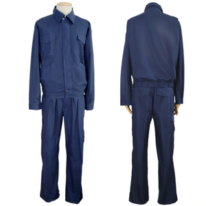 190 Grams Polyester Navy Blue Two Pieces Safety Work Wear Adult Cheap Work Suit