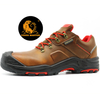 Brown Leather Anti Slip Puncture Proof Safety Work Shoes Composite Toe