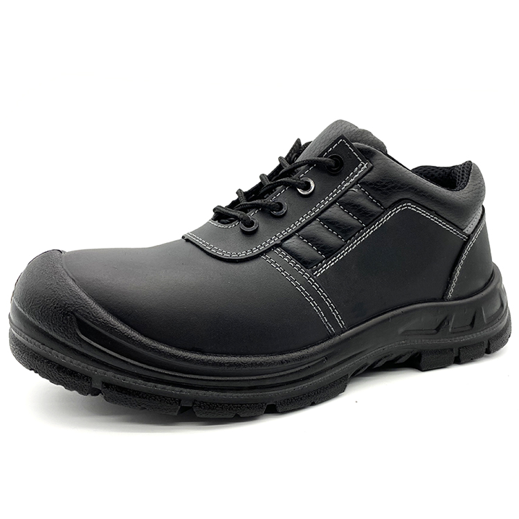 Anti Slip Black Leather Composite Toe Prevent Puncture Anti Static working shoes