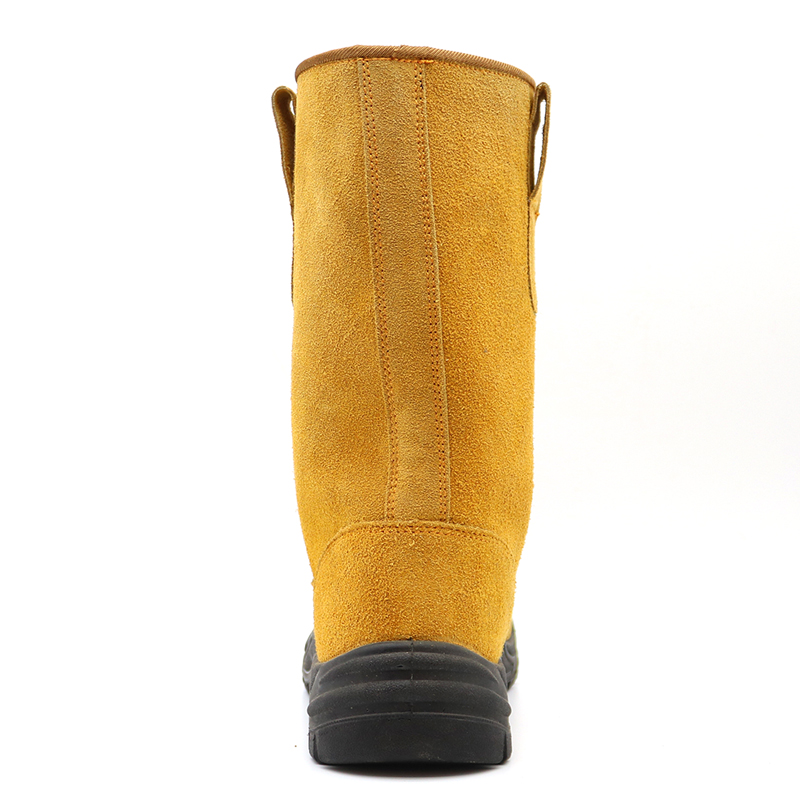 Anti Slip Steel Toe Puncture Proof Anti-static Suede Leather Welding Boots