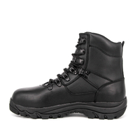 MILFORCE 6105 black ankle full leather militray boots