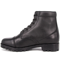 High quality walking office military police shoe full leather boots 6116
