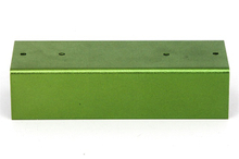 Green anodized weatherproof Aluminum econobox metal box tin container