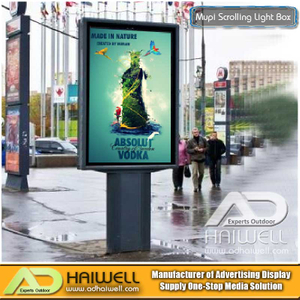 Mupi Backlit LED Light Box Ads Signs