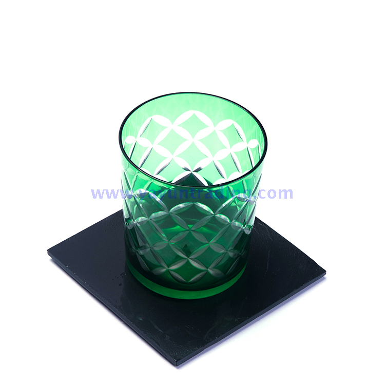 popular 30oz green empty glass candle holder