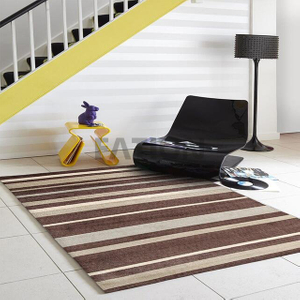 Hand Tufted Customize Area Rug Striped Acrylic Carpet