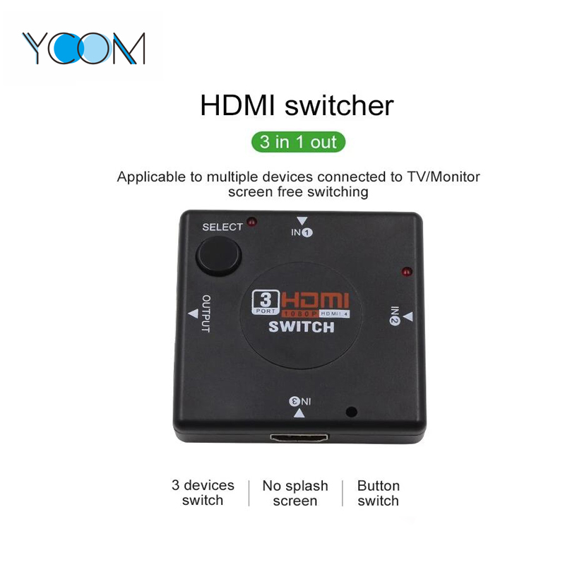 High Quality 3X1 HDMI Switch 1.4 Version