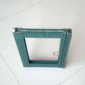Green Powder Coated Aluminium Frame for Casement Window