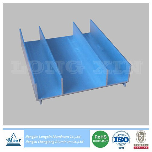 Silver Anodized Aluminium Extrusion as Window Frame