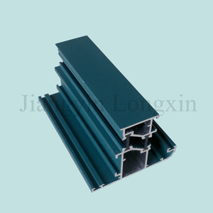 Green Powder Coated Aluminum Extrusion for Windows, Thermal Break