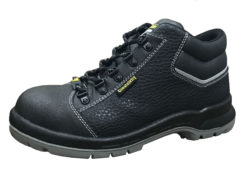Microfiber leather pu sole safety boots for worker
