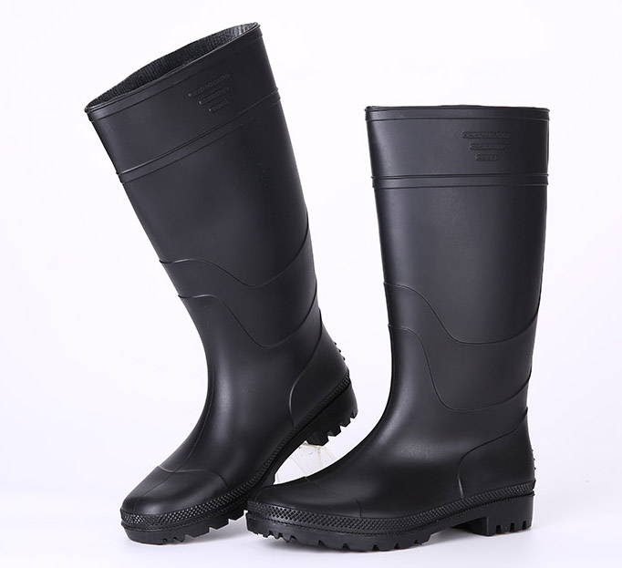 Light duty black cheap rain boots for men