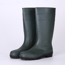 Dark green cheap safety plastic rain boots