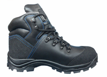Cemented leather safety shoes with steel toe and steel middlesole
