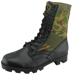 97068 vulcanized leather jungle boots