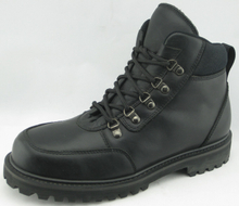 ss001 oil full grain goodyear welted boots with steel toe