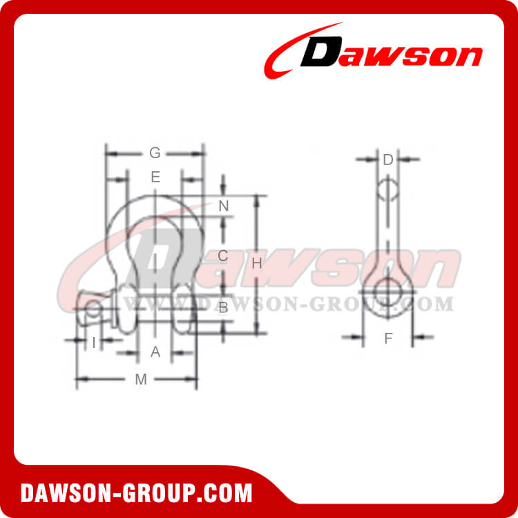 SCREW PIN ANCHOR SHACKLE G209 - Dawson Group