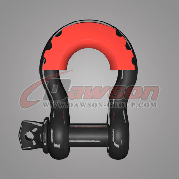 US Type Drop Forged Bow Shackle with PU Protection for Towing and Recovery Strap, Anchor Shackle - China Supplier, Factory