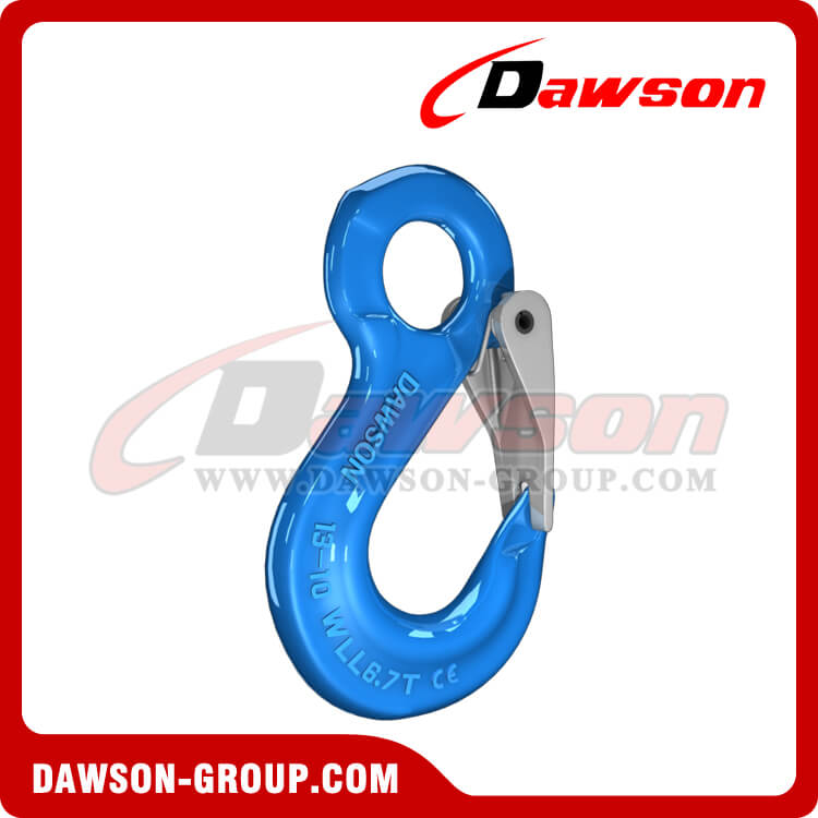 G100 Eye Sling Hook with Latch for Lifting Slings, Forged Steel Eye Sling Hook - China Manufacturer Supplier, Exporter