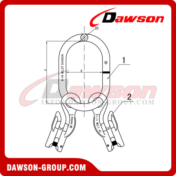 G100 Master Link + G100 Eye Grab Hook with Clevis Attachment ×2 - Dawson Group Ltd. - China Manufacturer, Supplier