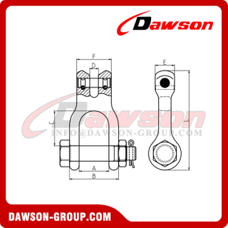 DS869 Forged Super Alloy Steel Double Clevis Link
