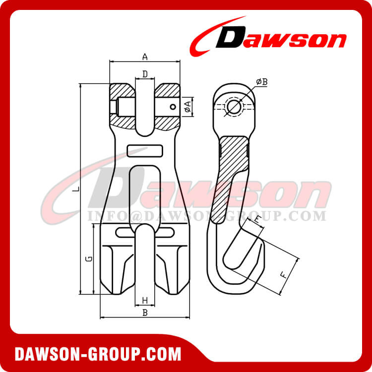 DS1049 G100 Shortening Chain Clutch, Grade 100 Clevis Shortening Clutch for Adjust Chain Length - Dawson Group Ltd. - China Supplier, Factory
