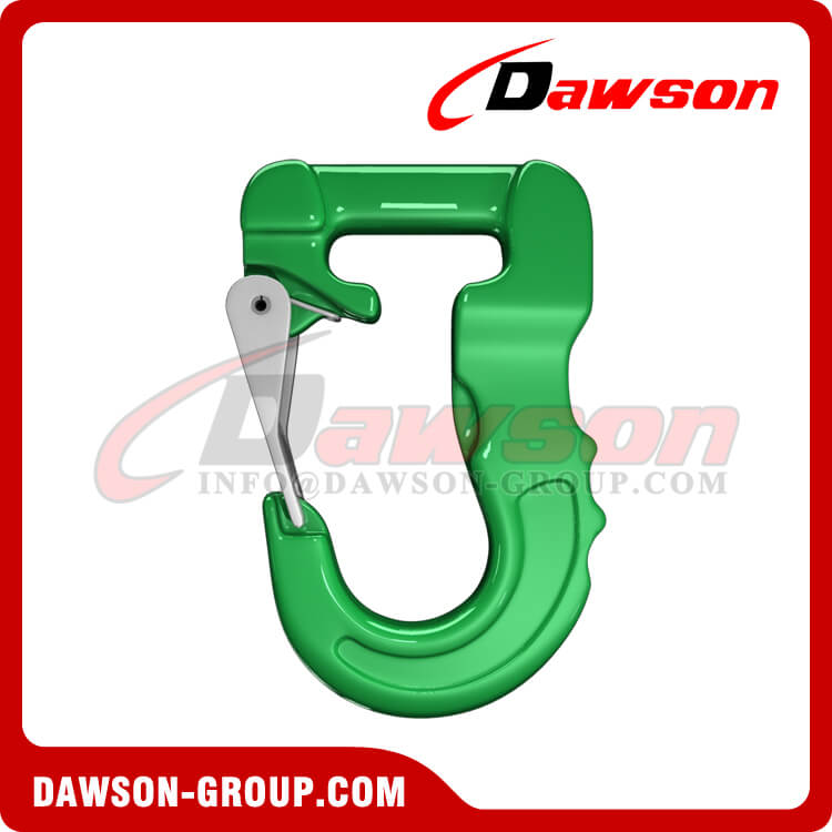 Grade 100 Web Sling Hook, G100 Synthetic Alloy Round Sling Hook 2T - Dawson Group Ltd. - China Factory