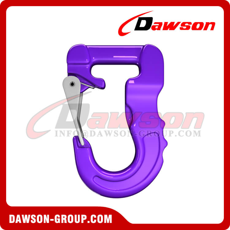 Grade 100 Web Sling Hook, G100 Synthetic Alloy Round Sling Hook 1000kg - Dawson Group Ltd. - China Supplier