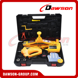 12V DC 2T or 3T 42CM Electric Scissor Jack & Electric Impact Wrench Suit