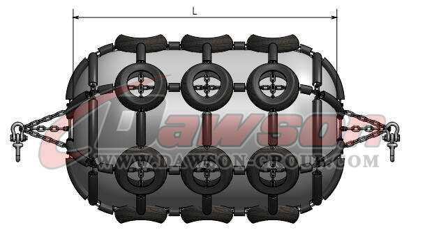 Pneumatic Rubber Fender with Chain and Swivel - China Supplier