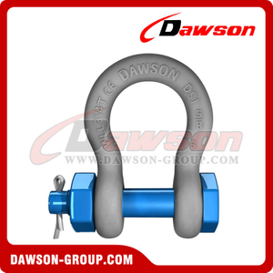 US Type Screw Pin Chain Shackles, Drop Forged Steel Bolt Type Anchor Shackle