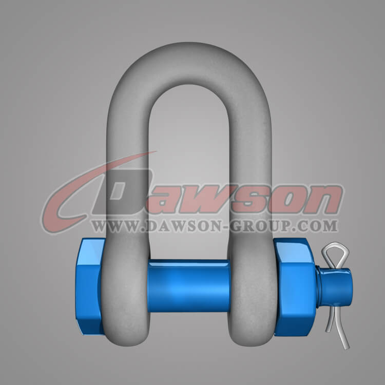 Dawson Brand Hot Dip Galvanized US Type Chain Shackle with Safety Pin - China Factory, Supplier