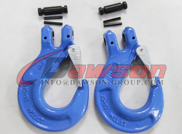G100 Clevis Sling Hook With Safety Latch for Chain Sling - Dawson Group Ltd. - China Supplier