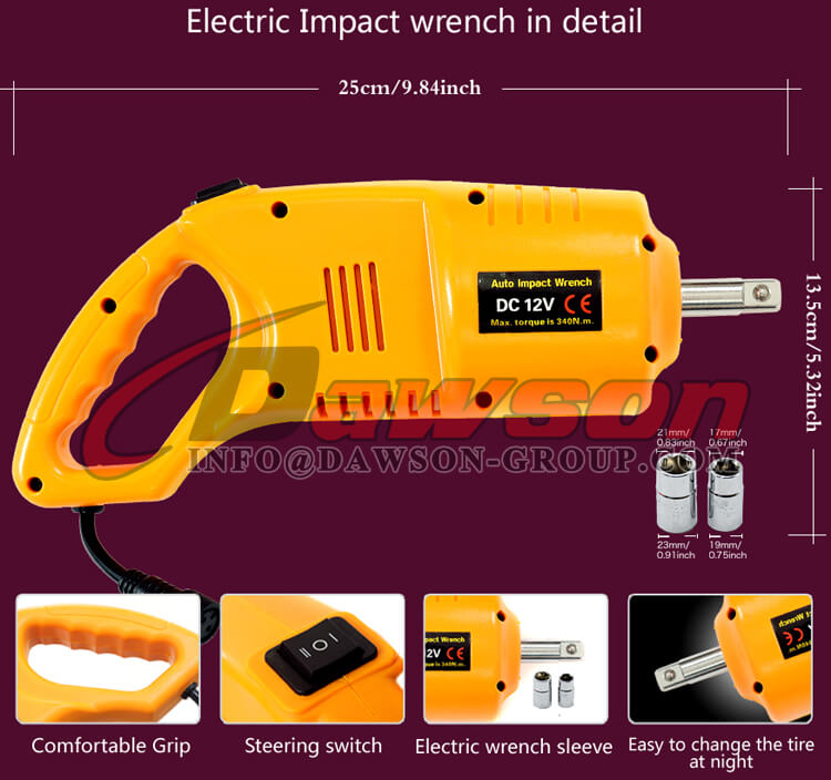 12V DC Electric Impact Wrench Details, Auto Impact Wrench - Dawson Group Ltd. - China Manufacturer, Factory
