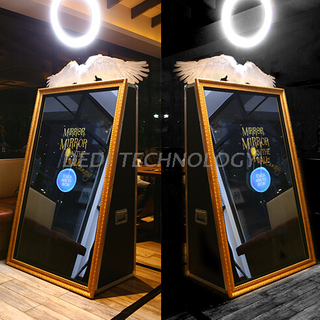 Dedi Portable Photobooth Kiosk, Selfie Photo Booth Kiosk, Magic Mirror Photo Booth Machine