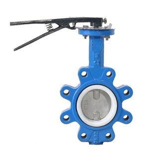Lug Type Cast Iron Wrench Concentric Butterfly Valve