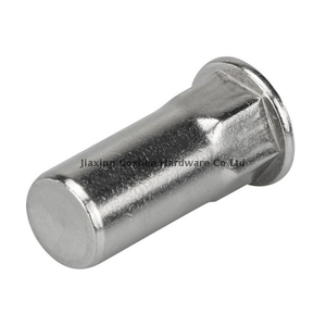 Stainless steel Small head inside outside hexagonal body rivet nut