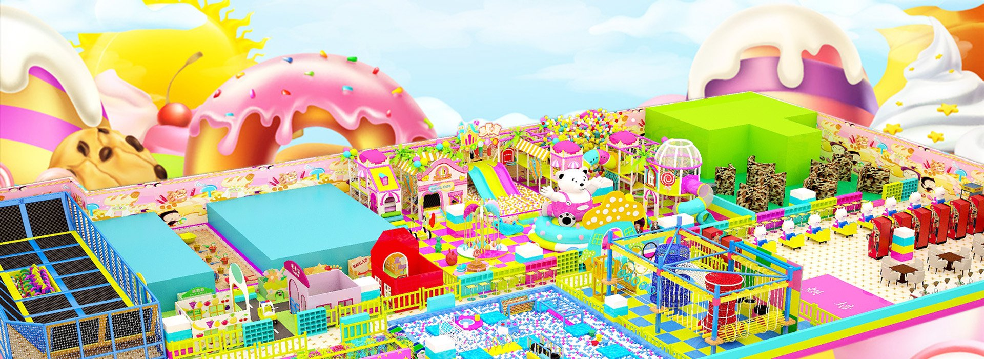 Candy Themed Soft Indoor Playground in China