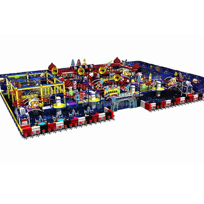 Space Themed Kids Soft Amusement Park Indoor Playground with Rope Course