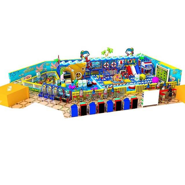 Ocean Themed Amusement Park Kids Custom Soft Indoor Playground
