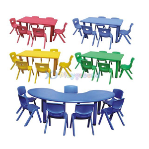 LLDPE Plastic Table and Chair for Preschool/Party Room