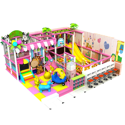 Candy Theme Soft Small Kids Indoor Playground Equipment with Trampoline and Ball pit